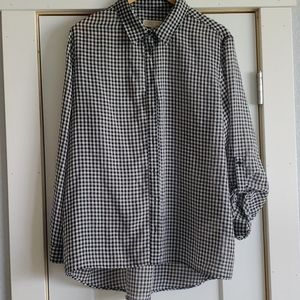 Michael kors gingham button up top